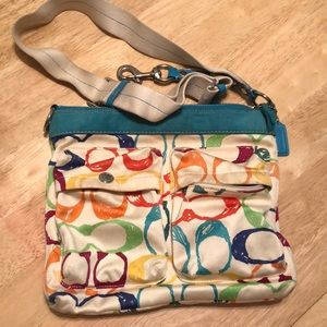 Colorful coach bag